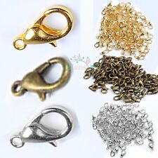 Wholesale 100 x Gold Silver Bronze Jewelry Necklace Lobster Clasps Parrot Hooks