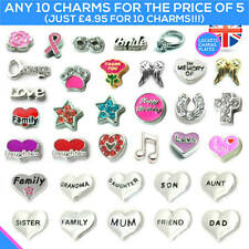 CHARMS Living Memory Locket Pendant Necklace Floating Charm Costume Jewellery