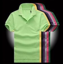 New Faddish Men's POLO Shirt Solid Color T-shirt Casual Sports Short Sleeve Top