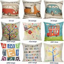 "New 18"" Vintage Throw Pillow Cases Home Decorative Sofa Cushion Cover Quote"