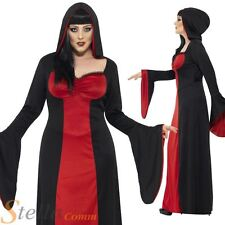 Ladies Dark Temptress Gothic Vampire Halloween Fancy Dress Costume Plus Size