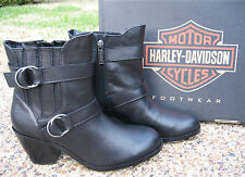 NEW Ladies Harley Davidson Marie Black Leather Motorcycle Fashion Boots D83540