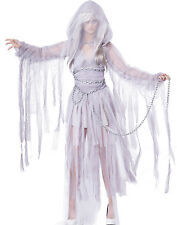 Sexy Vampire White Ghost Scary Bride Classic Womens Halloween Costumes XS-XL