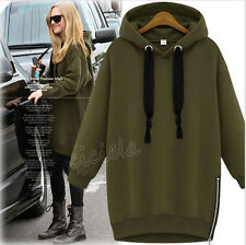 Fashion Women Hooded Drawstring Long-Sleeved Thick Winter Hedging Letter Sweater
