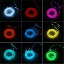 9FT New Flexible Neon Light Glow EL Wire Rope Tube Car Dance Party+Controller