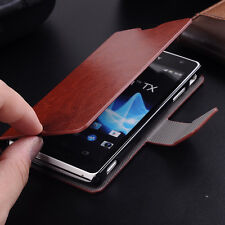 Hot Sale PU Leather Card Holder Flip Stand Case Cover For Sony Xperia TX LT29i