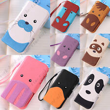 Cartoon PU Leather Flip Wallet Stand Case Cover For Samsung Galaxy S3 Mini i8190