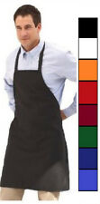 4 NEW SPUN POLY CRAFT / COMMERCIAL RESTAURANT KITCHEN BIB APRONS