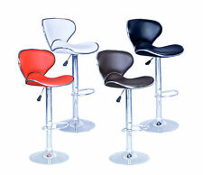 New Modern Adjustable Synthetic Leather Swivel Bar Stools Chairs B03-Sets of 2