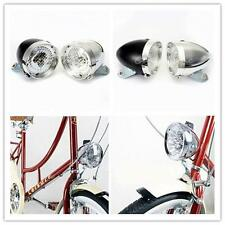 Retro Bicycle Bike Accessory Vintage 3 LED Headlight Front Light Torch + Bracket