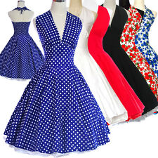 Vintage Dress Dancing Party Prom Rockabilly Swing Jive Spot Polka 50s 60s Skirts