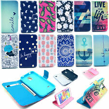 Magnetic Flip PU Leather Wallet Card Stand Case Cover For Samsung Galaxy Phone