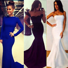 Long Sexy Women Evening MAXI Party Ball Prom Gown Formal Cocktail Mermaid Dress