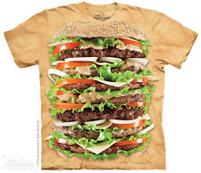 THE MOUNTAIN JUICY BURGER PATTIES SPECIAL SAUCE LETTUCE TOMATO T TEE SHIRT S-5XL