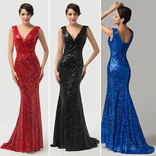 HOT SALE Sequins Ball Gown Evening Prom Party Wedding Bridesmaid Formal Dresses