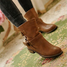 Women 1cm Wedge 3cm Heel Non Slippery Rubber Material Martin Boots Ankle Boots