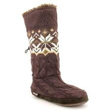 Muk Luks Nordic Snowflake Toggle Womens Fashion Mid-Calf Boots New/Display