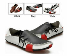 HOT! New Mens Casual Shoes Genuine Leather Driving Moccasins Slip On