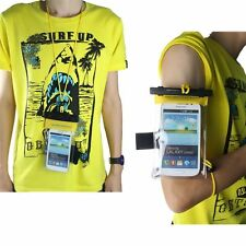 UK Clear Mobile Phone PVC Case Waterproof Dry Bag Scuba Swimming Beach Holiday