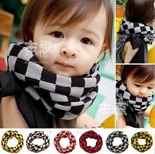 Child Kids Girls Boys Baby Checkers Jacquard Weave Scarves Scarf Wrap CCAP5008