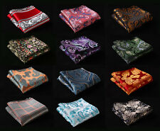 V2 Floral Paisley Men Silk Satin Handkerchief Pocket Square Hanky Wedding Party