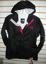 THE NORTH FACE WOMENS VENTURE WATERPROOF JACKET-#A8AS-BLACK/C PINK-S,M,L,XL -NEW