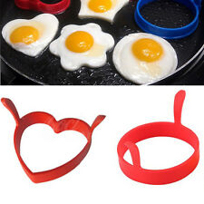 Creative Round Heart Kitchen Silicone Egg Frier Poacher Poach Ring Mould