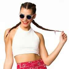 Quite A Catch Mesh Jersey Triangle Halter Crop Top American Deadstock Apparel
