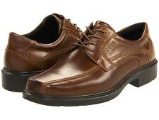 NEW Men's ECCO Helsinki Bicycle Toe Tie Leather Dress Shoes - Cocoa Brown