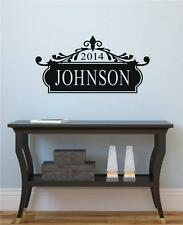 Custom Name Plaque Vinyl Decal Wall Decor Stickers Letters Words Home Decor Gift