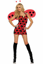Pretty Lady Sexy Lady Bug Insect Womens Halloween Fancy Dress Up Costume S-4X