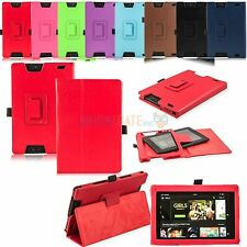 "For new 2013 Amazon Kindle Fire HD 7"" Folding PU Leather Stand Smart Case Cover"