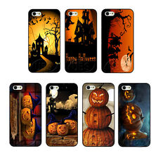 Stylish Happy Halloween With Pumpkins On Hard Case Cover For iPhone 4 4S 5 5S 5C