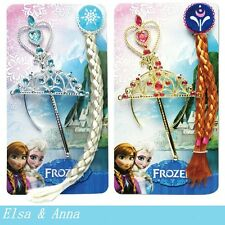 Girl's Cosplay Frozen Princess Elsa Anna Crown+wigs + magic wand