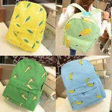 Fashion Cute Women Fruit Canvas Backpack Schoolbag Handbag Rucksack BookBag Bags