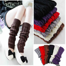 Winter Knit Long Socks Lady Knitted Crochet Fashion Leg Warmers Legging Stocking