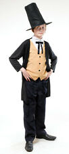 BOYS VICTORIAN OLIVER ARTFUL DODGER GENTLEMAN FANCY DRESS COSTUME OUTFIT NEW