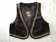LANE BRYANT Women`s Velvet Brown Vest