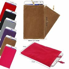 "Velvet Sleeve Pouch Slip Case Cover Bag For Any Up To 5.5""inch Mobile Phone"