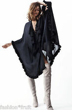 H&M New Oversized Draped Tunic with Tassels Dark Blue Spring 2014 XS S