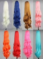 "DM132 Fashion Long Wavy 21"" Colorful Clip In/On wig Piece Curly Claw Ponytail"