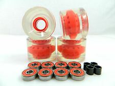 Blank 60mm Longboard Cruiser Clear Color Core Wheels + ABEC 7 Bearing + Spacers