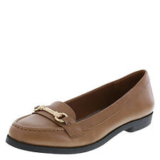 Dexflex Women's Shoes GENEVIEVE Bit Loafer COGNAC (WIDE)