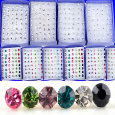 20 Pairs Wholesale Lots Clear Crystal Earring Studs 1 Box Allergy Free Neddle