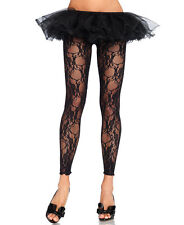 Floral Lace Footless Tights Leggings - Leg Avenue 7888