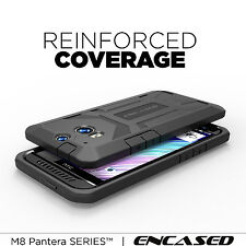For HTC ONE M8 | Original Armor Rugged [Defender PRO Case + Screen Guard] Black