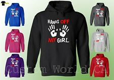 Hands Off my Girl - Couple Matching Sweat Shirt Hoodie - His and Hers Hoodie