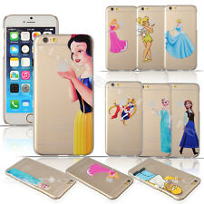 "Thin Matte Cartoon Hard Plastic Case for iPhone 6 4.7"" Snow White Ariel Mermaid"
