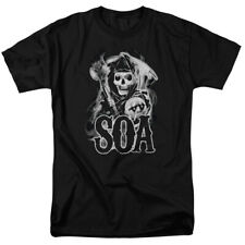Sons Of Anarchy SOA Smoky Reaper Logo Licensed Adult Shirt S-3XL