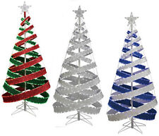 4' INDOOR/OUTDOOR LED TAPE LIGHT SPARKLE FABRIC RIBBON CHRISTMAS TREE